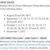 WDW旅行記2017準備編 ハロウィンのスケジュール発表