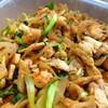 鶏肉と蓮根、青梗菜のテンメンジャン炒め