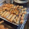 幸運な病のレシピ( 2036 )昼  :鶏むねカツ、磯辺揚げ(納豆・明太子・いんげん、チーズ)、うずら卵、春巻き、焼売