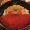 45.ウニいくら丼(むらかみ)醤油ラーメン(梅光軒)