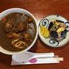 【簡単料理】昼ごはん♪  カレーうどん&五目おにぎり