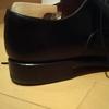一番のお気に入りの革靴のヒールを修理した