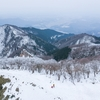 まだ雪が残る時期、電車で行く滋賀県の名山「綿向山」に登りました。霧氷。