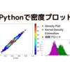 【Matplotlib】pythonで密度プロット(Density plot)