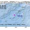 2017年10月11日 08時08分 三重県南東沖でM3.6の地震