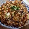 金沢市間明町のアットホームな台湾料理店。和香居で、麻婆豆腐、青菜炒め、炒飯。