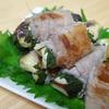 茄子の豚肉巻き。豚肉 × ナス × シソ。焼いて蒸すだけ。(*´з`)