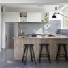 洗練されたビンテージモダンスタイルで完成したマンションのインテリア室内デザイン