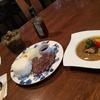 和牛ステーキとスープカレーが同時に楽しめました ∴ カレーとオムレツのお店 スウィート