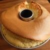 シフォンケーキの失敗_割れずに持ち上がる・型外しで穴が開く