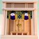 モダンデザインの神棚 明るく祭れるガラスケース入りの神殿