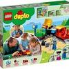 押すと動く!おさえると止まる!レゴ デュプロ キミが車掌さん! おしてGO機関車デラックス 10874 は簡単操作のおしてGO機能がすごい!