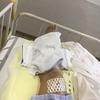脛骨骨折手術後のリハビリ3日目