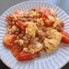 ヘルシー料理!!トマトと納豆と卵の中華炒め!