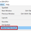 【Unity】選択中のファイルの数を常に表示するエディタ拡張