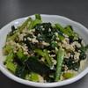 地元多和でいただいた小松菜で料理