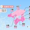 桜開花予報を見て