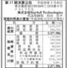 スピード買取.jp運営の株式会社BuySell Technologies 第17期決算公告
