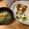 ハンバーグ 納豆ご飯