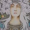 ミュシャ塗り絵『サラ・ベルナール』の続き