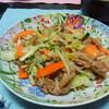 今日の晩飯 肉野菜炒めを作ってみた