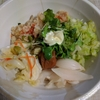 和風ベジ丼/ラーメンスープの炊き込みご飯を野菜でねじ伏せる(野菜350g以上)