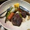 久々のステーキ、美味しかった。遠赤の陶板が決めてになる?