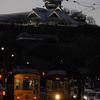 熊本城とイルミネーション電車