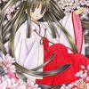 「桜の巫女」色鉛筆&鉛筆オリジナル巫女イラスト(再掲・修正):そろそろ桜の季節?