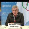 動画!IOC理事会オンライン記者会見で五輪開催反対「ノー五輪」のタオル!映像打ち切り