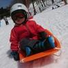 スキー場の紫外線は想像以上に強いのでゴーグル装着は必須!(脱 過保護なソリ遊び)