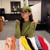 【韓国ファッション】レディース 選べる9カラー リブニット タートルネック トップス