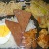 [19/07/12]「琉花」の「豚肉キャベツのみそ炒め(大盛)(日替わり弁当)」(カレー付き) 300円 #LocalGuides