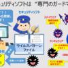 """【セキュリティソフト】とは インターネットからの攻撃を守る""""ガードマン"""""""