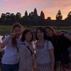 カンボジア個人旅行 日本人4名アンコールワット朝日鑑賞