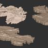 Zbrushのブラシの特性をつかむためには立体地図を作ってみるのがいい