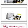 【犬漫画】温風ヒーター前の惨劇!