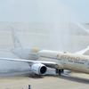 【綺麗な放水アーチ】 エティハド航空B787-9がセントレア乗り入れ開始,初日は放水歓迎!+夏のセントレア撮影記.