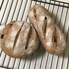 クルミクランベリーパン、ナスの蒲焼とシチューとじゃがいもオムレツ
