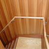手摺取付1(廻り階段に丸棒の直止め継ぎ)