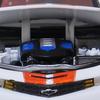 【モデルインプレッション】Auto World64 Chevy Camaro`11(White with Orange Stripes)