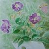 2020年8月:『夏を描く - 白い花器の野牡丹』