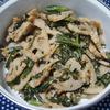簡単常備菜*春菊とレンコンの胡麻和え