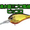 【EVERGREEN】清水盛三プロ監修の世界基準スモールクランクベイト「ピッコロ」通販予約受付開始!