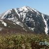 荒島岳。4月中旬。