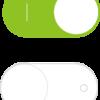 iPhoneの GUI スイッチ