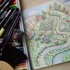 完成】クーピーペンシルでのんびり風景ページが塗りあがりました☆動物達のファンタジーシーズンより