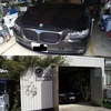 BMW740iのポリッシュホイールのガリ傷修正のご注文です!(長野からご来店)
