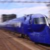 萩ノ茶屋駅で南海電車を流し撮り