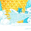 風船×イラストのコラボ クリスマスカード企画